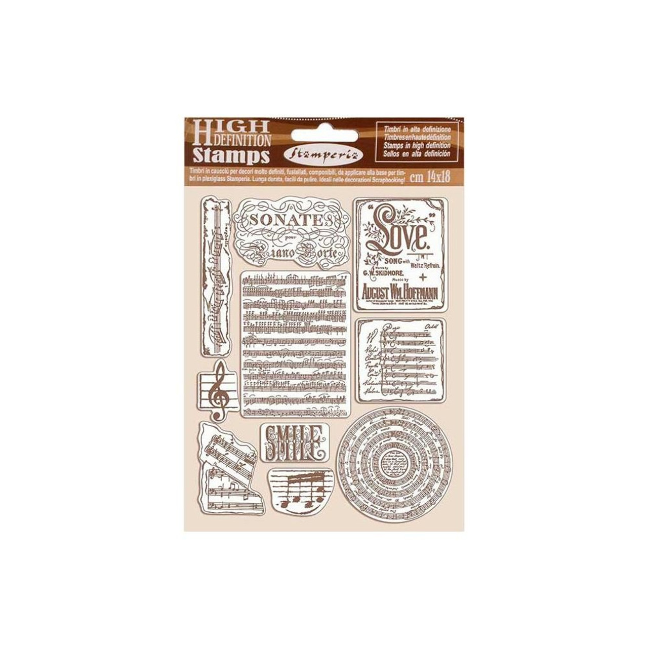 Stamperia - Cling Rubber Stamps - Music; Passion
