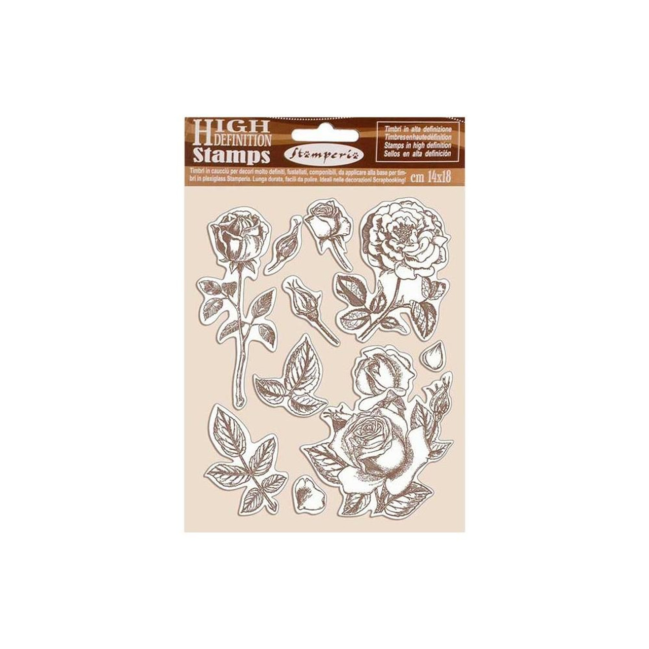 Stamperia - Cling Rubber Stamps - Rose; Passion