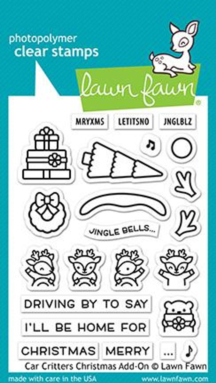 Lawn Fawn - Car Critters Christmas Add-On Stamps