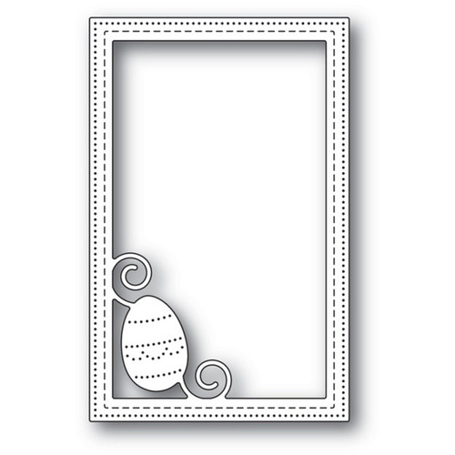 Poppystamps - Dies - Decorated Egg Stitched Frame