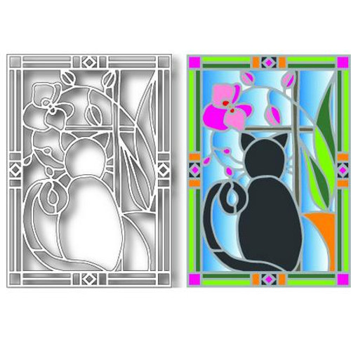 Tutti Designs - Dies - Cat Stained Glass