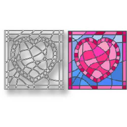 Tutti Designs - Dies - Heart Stained Glass