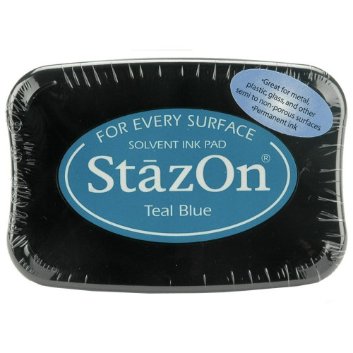Staz-On - Solvent Ink - Teal Blue