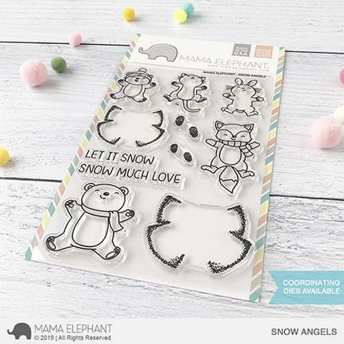 Mama Elephant - Snow Angels Stamps