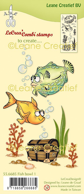 Leane Creatief - Clear Stamps - Fish 1