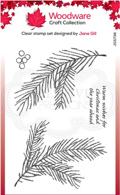 Woodware Craft Collection - Clear Stamps - Sketchy Pine Branch