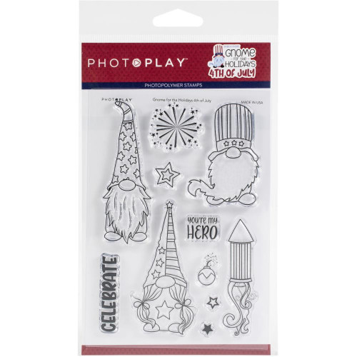 Photoplay - Clear Stamps - Gnome For July 4th