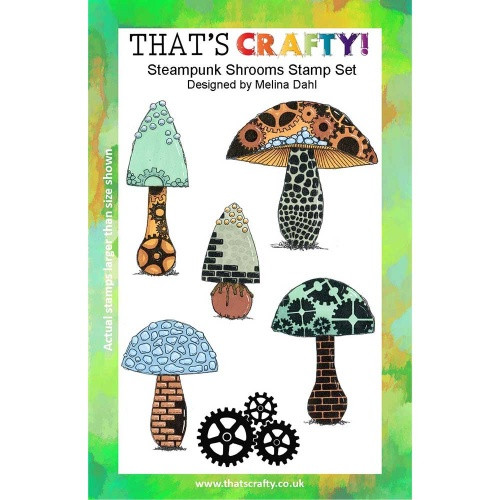 That's Crafty! - Clear Stamps Set - Steampunk Shrooms