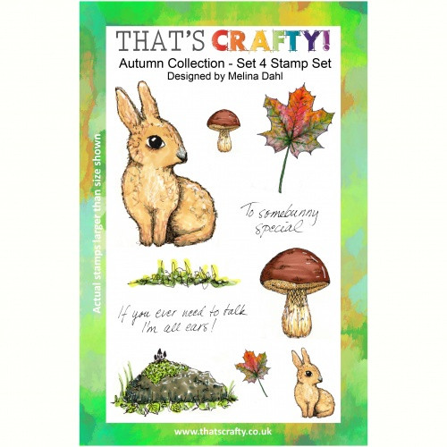That's Crafty! - Clear Stamps Set - Autumn Collection - Set 4