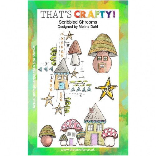 That's Crafty! - Clear Stamps Set - Scribbled Shrooms