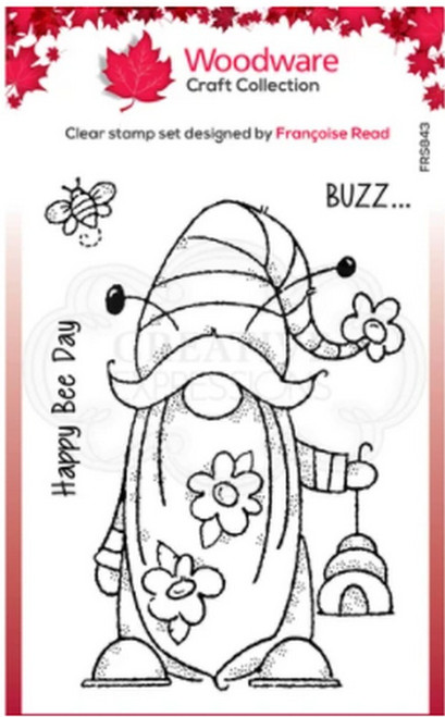 Woodware Craft Collection - Clear Stamps - Bee Gnome