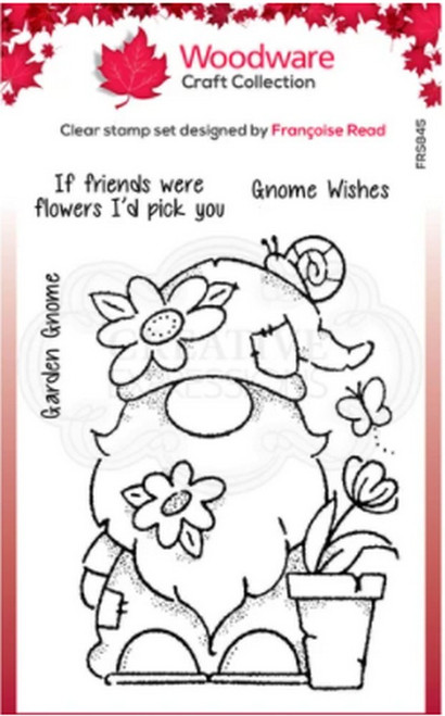 Woodware Craft Collection - Clear Stamps - Garden Gnome