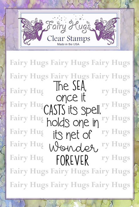 Fairy Hugs Stamps - Sea Quote