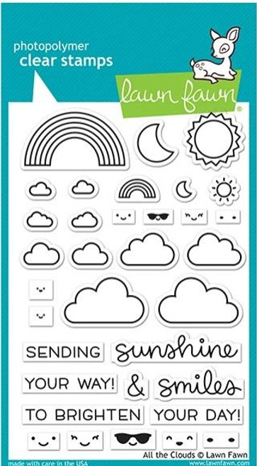 Lawn Fawn - All The Clouds Stamps