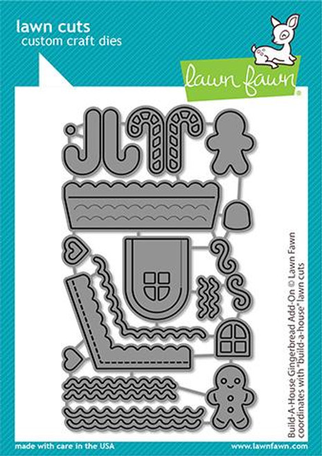 Lawn Fawn - Build-A-House Gingerbread Add-On Dies