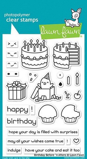 Lawn Fawn - Birthday Before 'n Afters Stamps