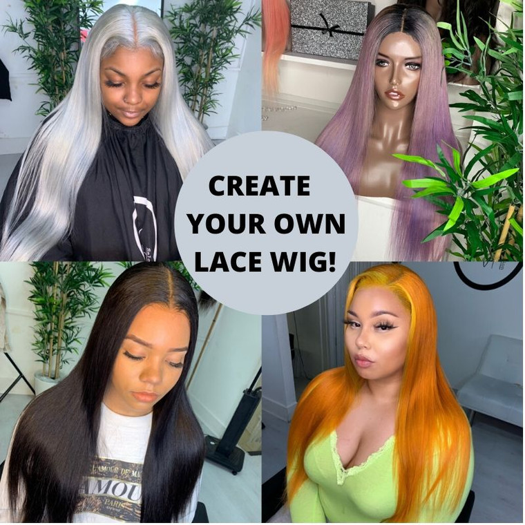 Design your own lace frontal custom wig