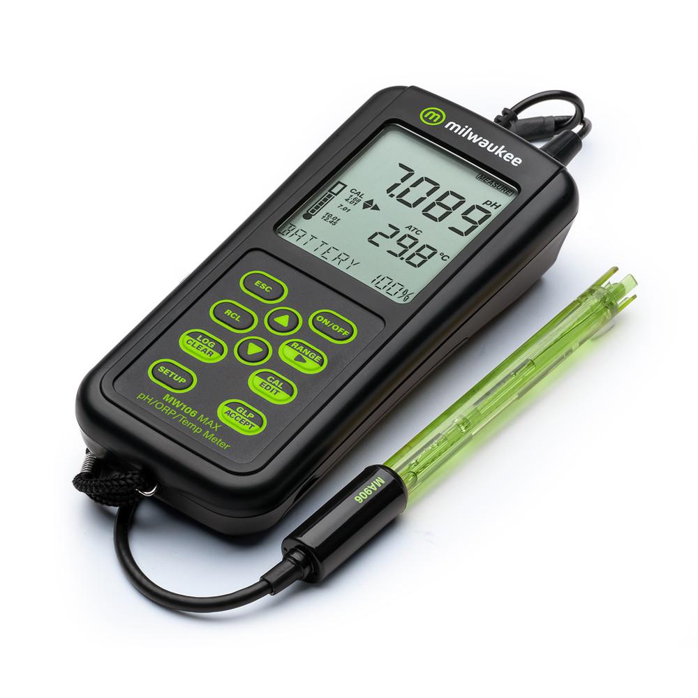 Milwaukee MW106 MAX Waterproof pH/ORP/Temp Logging Portable Meter