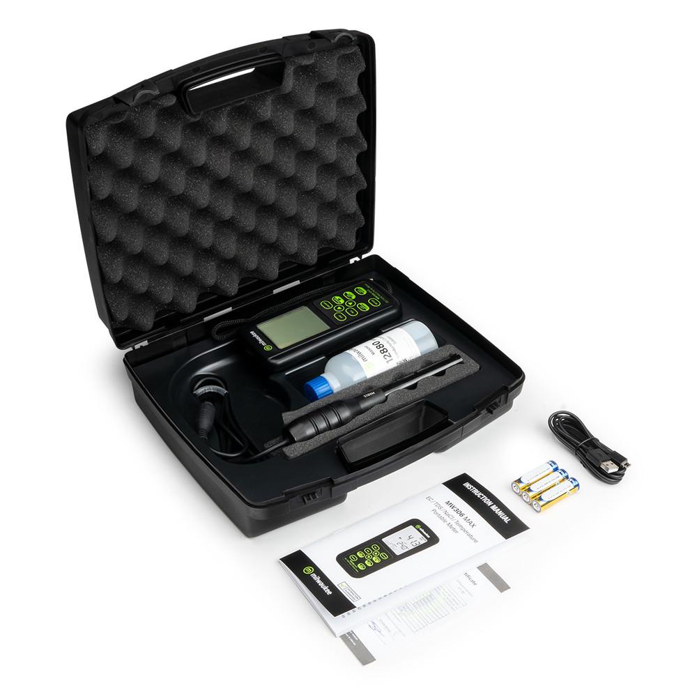Milwaukee MW306 MAX Waterproof EC/TDS/NaCl/Temp Logging Portable Meter