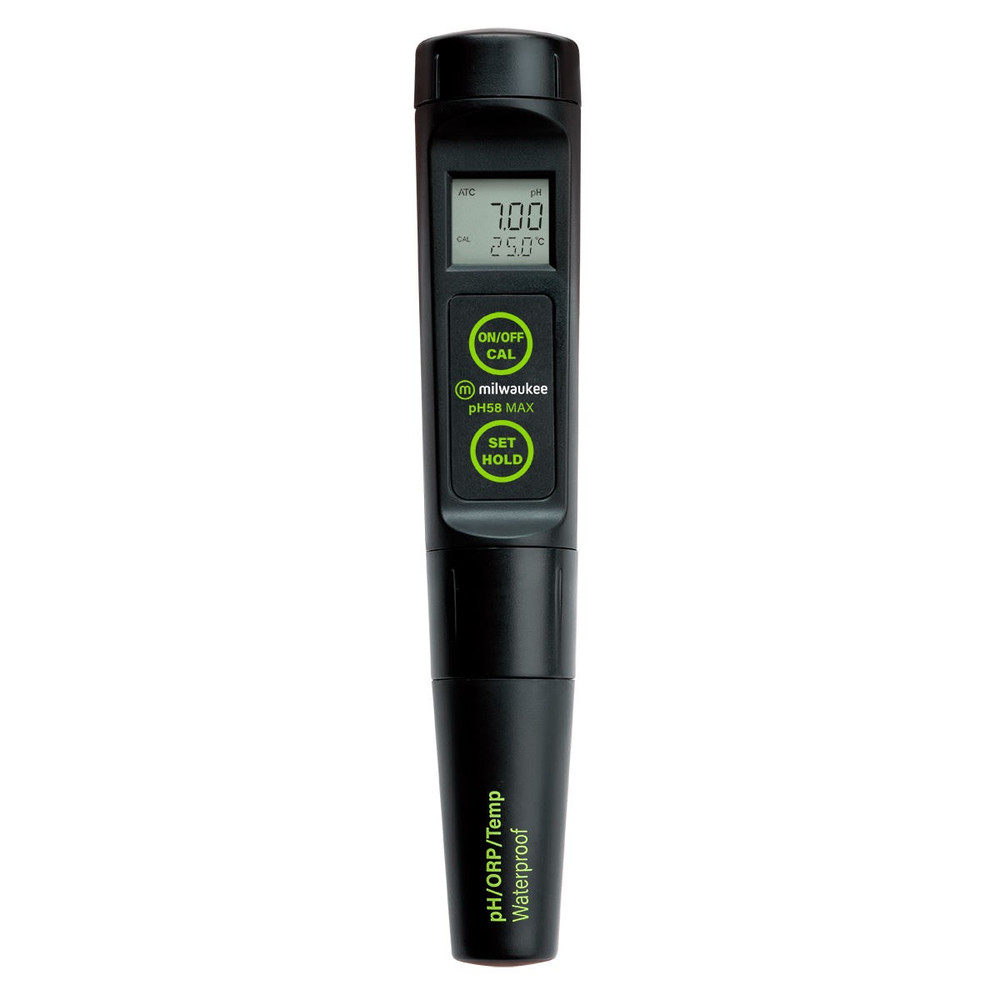 Milwaukee pH58 MAX Waterproof 3-in-1 pH/ORP/Temp Tester with Replaceable Probe