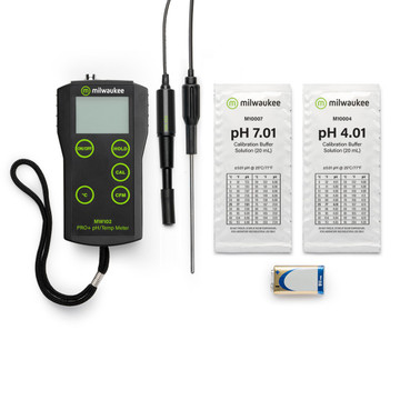 Milwaukee MW102-FOOD PRO+ 2-in-1 pH and Temperature Meter for Food