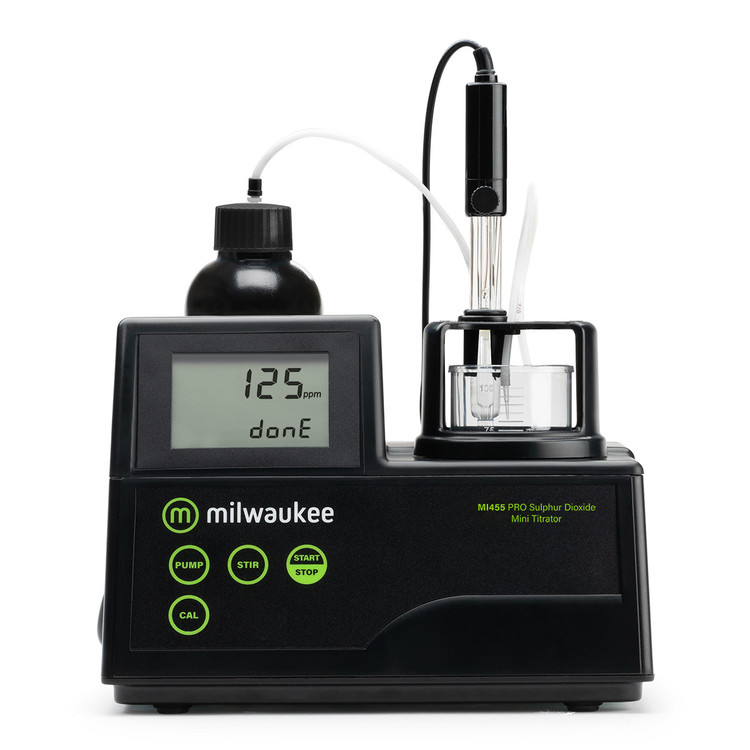 Milwaukee MI455 PRO Mini Titrator for Sulphur Dioxide in Wine