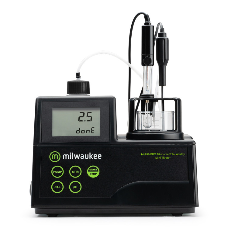 Milwaukee MI456 PRO Mini Titrator for Titratable Acidity in Wine
