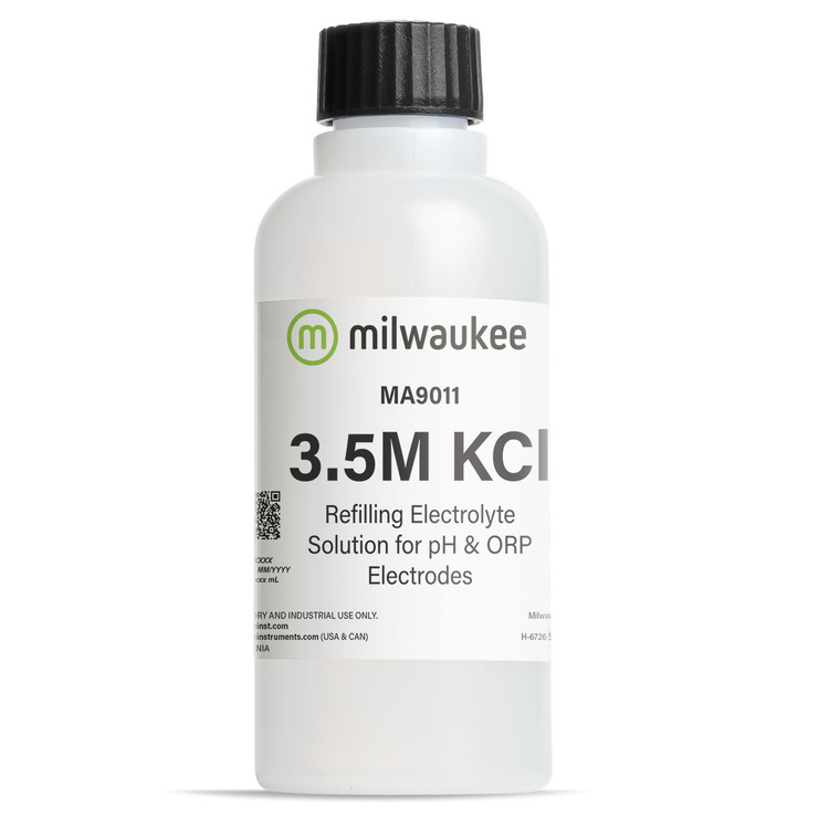 Milwaukee MA9011 Refilling Electrolyte Solution 3.5M KCl for pH/ORP electrodes