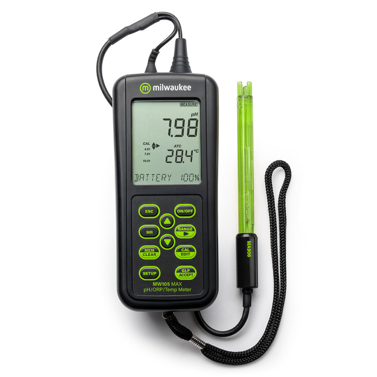 Milwaukee MW105 MAX Waterproof pH/ORP/Temp Portable Meter