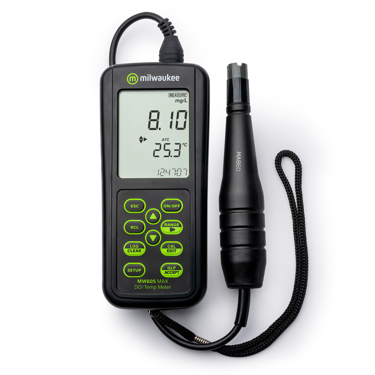 Milwaukee MW605 MAX Waterproof Galvanic  Dissolved Oxygen Meter With Automatic Calibration
