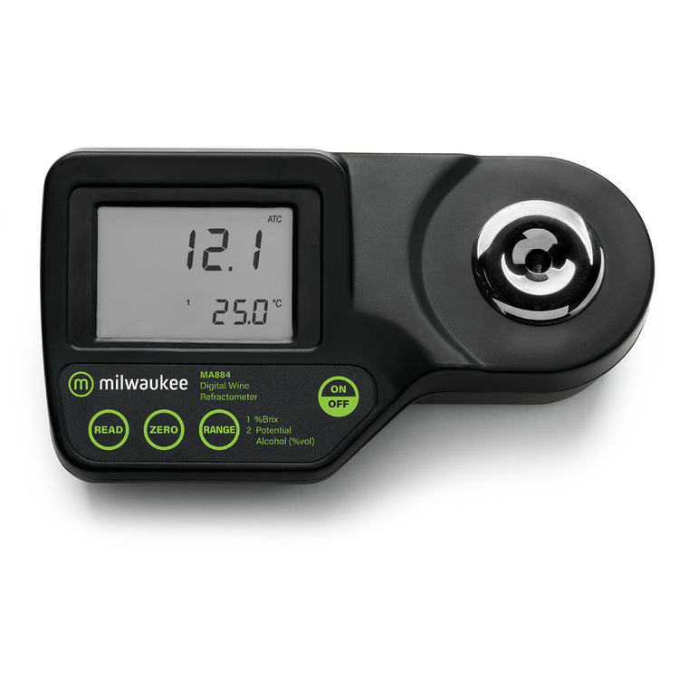 Milwaukee MA884 Digital Brix / Potential Alcohol Refractometer