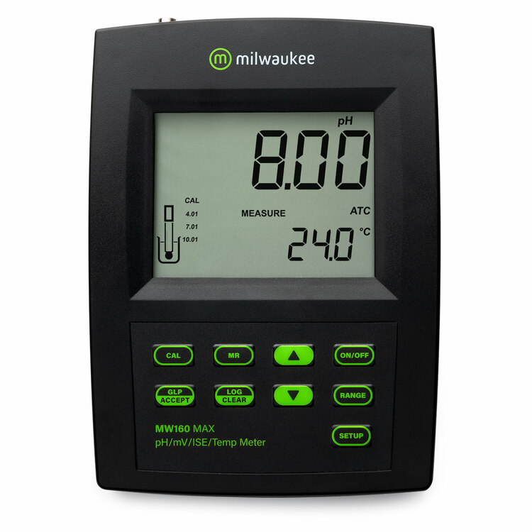 Milwaukee MW160 MAX pH/ORP/ISE/Temp Logging Bench Meter
