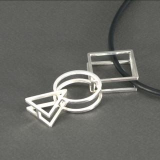 Geometric Pendant, Contemporary Jewelry by Cheryl Eve Acosta