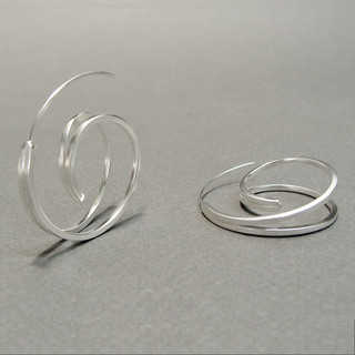 Spiral Earrrings, Contemporary Jewelry by Cheryl Eve Acosta