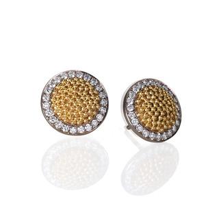Circle of Light Small Earrings, Fine Art Jewelry by CORNELIA GOLDSMITH