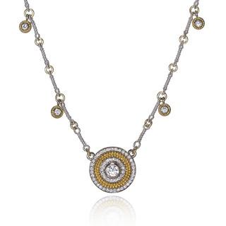 Diamond Dangle Disk Necklace, Fine Art Jewelry by CORNELIA GOLDSMITH