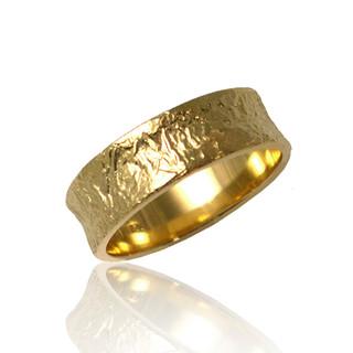 Washi Concaved Band Ring, Modern Jewelry by Keiko Mita