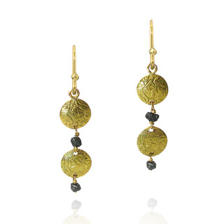 Washi Double disk earrings, Modern Jewelry by Keiko Mita