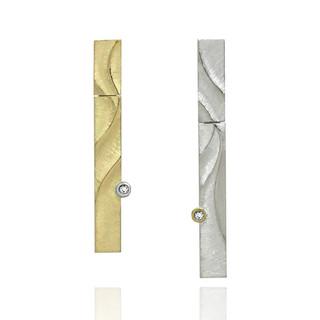 Sand Dune Echo Earrings, Fine Art Jewelry by Keiko Mita