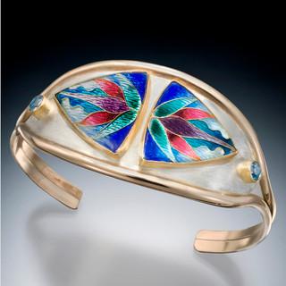 Genesis Cuff Bracelet, Modern Art Jewelry by Sheila Beatty