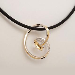 Snaggling Pendant, Modern art Jewelry by Nancy Linkin
