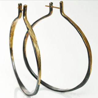 Splash Hoop Earrings; Handmade Modern Jewelry by Ayesha Mayadas