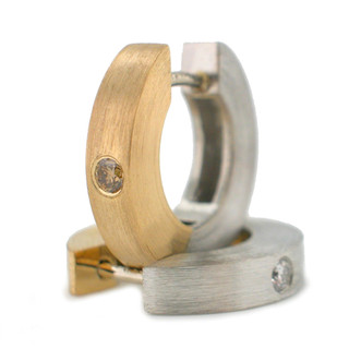 Reversible Everyday Hoops, Contemporary Jewelry by Catherine Iskiw
