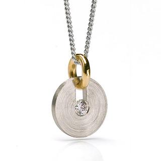 Slip Disc Pendant, Contemporary Jewelry by Catherine Iskiw