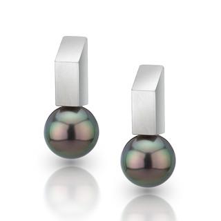 Rectangular Bar Earrings, Modern Jewelry by Estelle Vernon