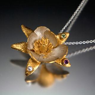 Carol Salisbury's One-of-a-Kind Magnolia Pendant | Handmade Designer Jewelry