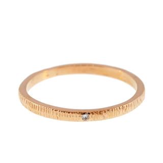 Anit Dodhia's Equinox White Diamond Ring | 18k Yellow Gold and 0.005ct Diamond | Maya Collection