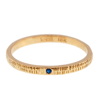 Anit Dodhia's Equinox Royal Blue Sapphire Ring | 18k Yellow Gold and 0.006ct Blue Sapphire | Maya Collection