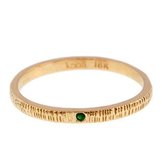 Anit Dodhia's Equinox Spring Green Tsavorite Ring | 18k Yellow Gold and 0.09ct Green Tsavorite | Maya Collection