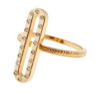 Anit Dodhia's Giocoso Diamond Stackable Ring | 14k Yellow Gold and White Diamonds | Caramia Collection